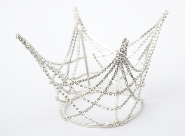 Silver Diamante Princess Crown from Chantal Mallett Wedding Accessories & Jewellery