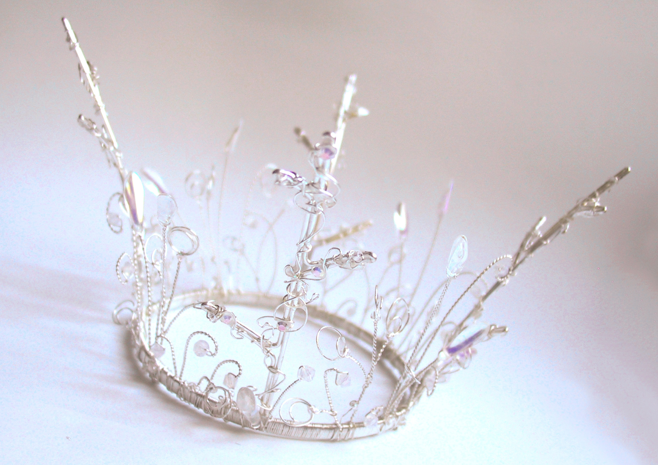 Silver Crystal Fantasy Crown from Chantal Mallett Wedding Accessories & Jewellery