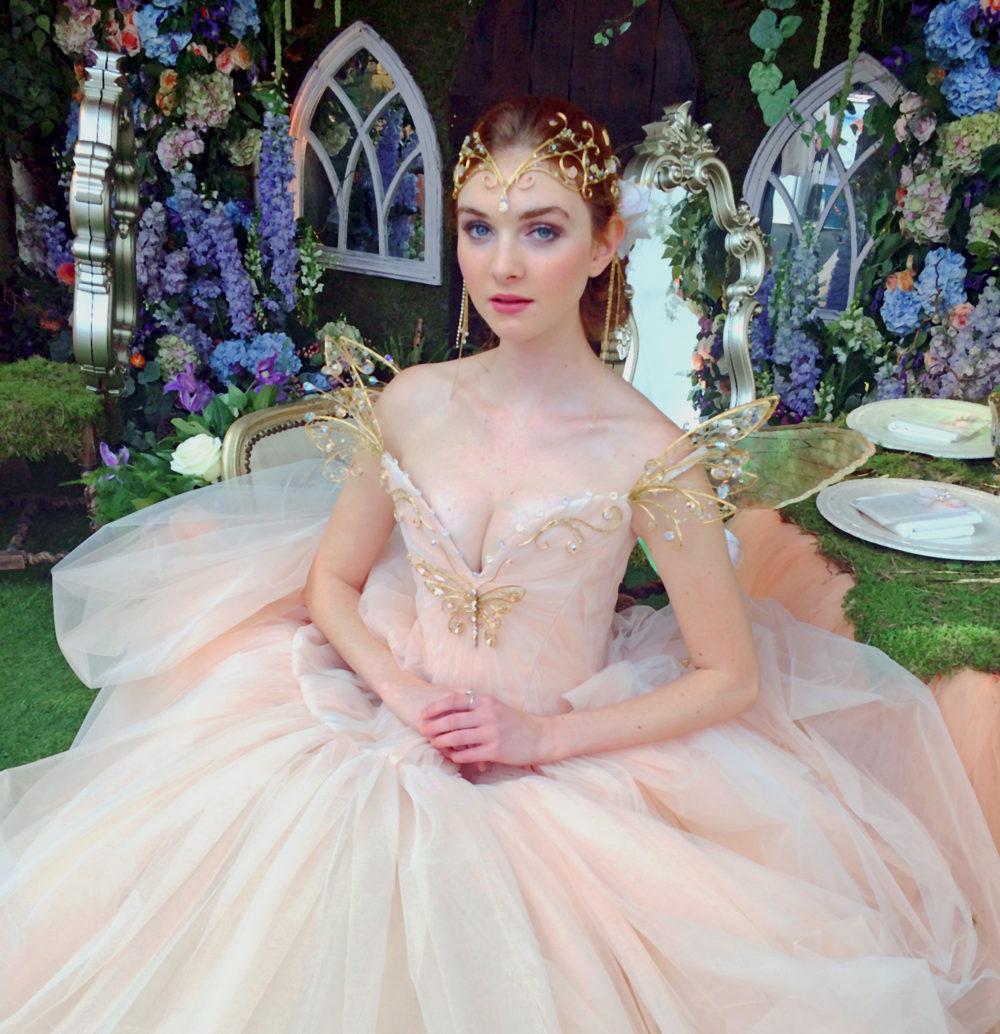Amie Bone Peach Tulle Fairy - Chantal Mallett Bridal Couture