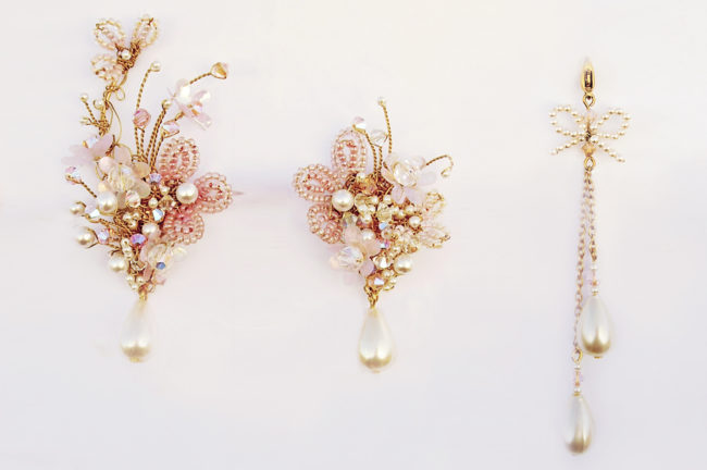 MIS-MATCHED, UP EAR EARRINGS WITH EXTENDERS